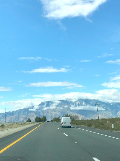 route vers Palm Springs